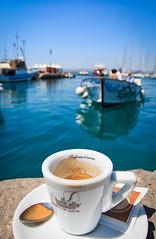 Sinfonia d'aromi - Ortigia (andreamutencarveni) Tags: sea summer panorama coffee landscape mare estate barche porto sicily caff sicilia siracusa ortigia