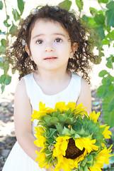 Gianna_0153 (Ciara*) Tags: girl kid toddler smiles cutie niece sunflower