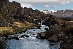 Small waterfall at ingvellir (markvall) Tags: river is waterfall iceland south thingvellir vesiputous matka joki islanti