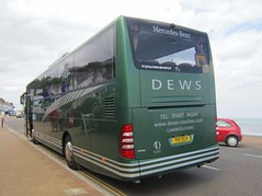 Dews Coaches of Somersham R111DEW (rear) (harryjaipowell) Tags: bus coach mercedesbenz isleofwight esplanade cambridgeshire shanklin 2010 iow huntingdon tourismo dews somersham o350 c49ft dewscoaches r111dew