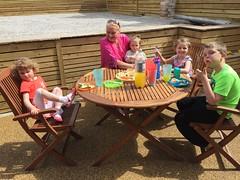 Birthday Lunch (BuddaBoy) Tags: garden lunch outside jake amy jessica mum nana robyn gillian