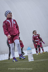 1604_FOOTBALL-132 (JP Korpi-Vartiainen) Tags: game girl sport finland football spring soccer hobby teenager april kuopio peli kevt jalkapallo tytt urheilu huhtikuu nuoret harjoitus pelata juniori nuori teini nuoriso pohjoissavo jalkapalloilija nappulajalkapalloilija younghararstus