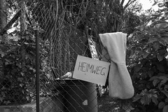 Heimweg (Daniel C. Brunner) Tags: sony sonyalpha schwarzweis sonyzeiss1670z still alpha6000 a6000 alpha stillife zeiss bnw blackandwhite bw blackwhite black home hessen germany grosumstadt 2016 may heimweg escape safetyfirst mono monochrom