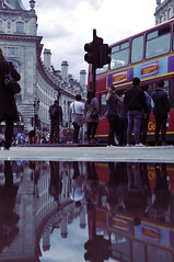 mirror for london (WRCK) Tags: street reflection bus london water square lights best trafic