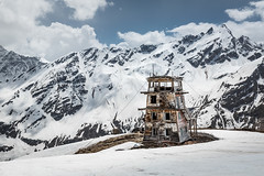 Good Old Weather (ksikappa) Tags: sky snow mountains building tower buildings wooden russia science caucasus met  kabardinobalkaria terskol meteorological     prielbrusye