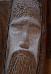 face  carving log (Simon Dell Photography) Tags: diy home hand made wood carvings log tree green man face detail simon dell art sheffield 2016 fairy house idea novice new starter beginer how awsome xxx