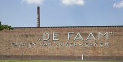"""De Faam"" (Tim Boric) Tags: chimney mill industry wall typography letters lettering breda industrie confectionery fabriek muur typografie schoorsteen defaam suikerwerken"