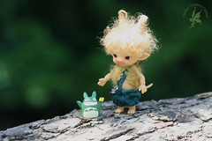 CCC Ugly Woodling Trolls Aggie & Augie (chartar_69) Tags: totoro bjd 8cm charlesstephan tinyballjointeddoll charlescreaturecabinet glowinthedarkresin uglywoodling trollbjd woodlingtrolls