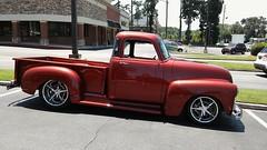 Side View | Restored Chevrolet Pickup Truck (steveartist) Tags: pickuptrucks chevys chevrolets antiquevehicles antiquepickups chrometrimwheels aviaryapp profileviews lgescape2 custompaint reflections stevefrenkel
