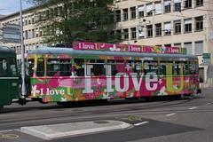 1447 (KennyKanal) Tags: tram grn aw bv bvb ffa altenrhein basler verkehrsbetriebe schienenfahrzeug drmmli