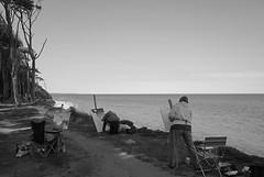 Painters - Baltic Sea (elisachris) Tags: sky blackandwhite nature landscape natur himmel balticsea landschaft ostsee ricohgr painters mecklenburgvorpommern schwarzweis malerinnen