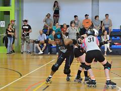 15 (Jan Hutter) Tags: city girls sport fight czech prague indoor praha skate roller luxembourg derby