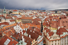 On the roofs of Prague (McQuaide Photography) Tags: above city houses roof light building tower rooftop architecture zeiss europe prague outdoor pov sony perspective wideangle praha down aerial handheld czechrepublic daytime elevated lookingdown fullframe alpha viewpoint oldtown overhead praag c1 czechia centraleurope capitalcity 1635mm starmsto eskrepublika variotessar captureone mirrorless astronomicalclocktower sonyzeiss mcquaidephotography a7rii ilce7rm2 captureonepro9