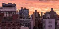 More Fiery Sunrise - 6/23/16 (DSC01566) (Michael.Lee.Pics.NYC) Tags: newyork architecture sunrise nikon cityscape sony nikkor85mmaf18 a7rm2
