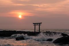 sunrise (semitune) Tags: sea pacific ocean wave tide   japan water rock seascape