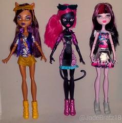New Dolls 05.07.2016 (JadeBratz18) Tags: york monster high noir boo 3pack wold catty clawdeen monsterhigh draculaura
