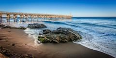 Row A Seat 1 (Calpastor) Tags: ocean california park santa sea pier state pacific tide wave barbara pch gaviota current goleta buelton goletastatepark