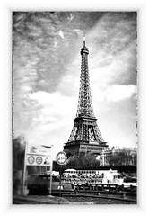Eiffel Tower, Paris (michab100) Tags: bw paris france tower frankreich eiffel sw eiffelturm mib app iphone michab100 snapseed