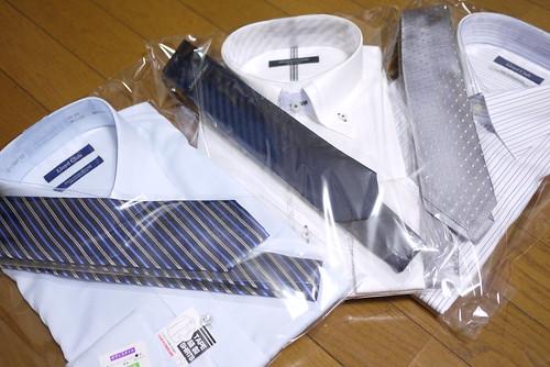 スイートテンのプレゼントはワイシャツ&ネクタイでした
