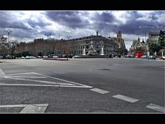 Cibeles (bozenqa©) Tags: madrid plaza city travel españa spain traffic centre capital fuente metropolis fontain cibeles bancodeespaña bozenqa