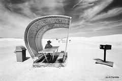 Life's No Picnic (Al Perrette) Tags: new bw mexico weird desert scenes alperrette