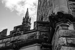 faces on the church (Josh Souza) Tags: sky church gargoyle heads