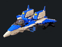 Robotech Alpha Fighter 01 (Legohaulic) Tags: anime lego transformer commission macross robotech alphafighter