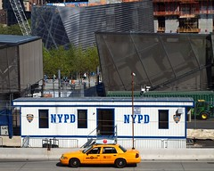NYPD WTC Police Station Satellite, World Trade Center Construction Site, New York City (jag9889) Tags: world county new york city nyc blue ny newyork station yellow memorial post manhattan cab taxi satellite 911 police nypd center company borough wtc trailer division temporary trade department command lawenforcement patrol finest 2012 precinct firstresponders binc commandpost pcar newyorkcitypolicedepartment 4wtc jag9889 y2012