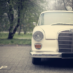 Meet Benz (Morphicx) Tags: beautiful dutch car bokeh parking paula vehicle canon5d whitecar canon50mmf14 5365 mercedesbenz200d morphicx