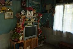cornucopia (with TV) (karen lee hall) Tags: blue red felicia tv costarica decoration utata patina conte twtme