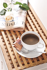 (Fahad Al-Robah) Tags: morning brown white cup coffee rose breakfast newspaper candy chocolate spoon