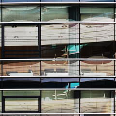 (morbs06) Tags: windows abstract glass lines architecture photoshop reflections germany square hafen dsseldorf cladding curtainwall