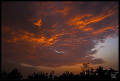 Clouds on Fire!!! (Debangshu Chakraborty) Tags: sunset clouds nikon siliguri d90 chakraborty debangshu