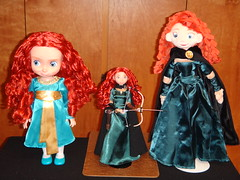 Brave Merida Dolls Deboxed - Toddler, Classic and Plush - All Standing (drj1828) Tags: classic store toddler dolls photos group 11 disney plush merida brave 16 20 deboxed