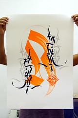 Srie Alfabetos (Writing**) Tags: poster silk silkscreen type latino calligraphy handlettering tipo caligrafia gravura expressivecalligraphy caligrafiaexpressiva
