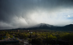 04-15-2012 (whlteXbread) Tags: 28mmf28 2012 afternoon boulder clouds colorado dailies flatirons fog green landscape m9 mountains rain sky spring faceit365:date=20120415