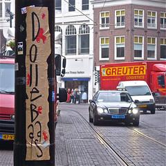Dolle Baas (Akbar Sim) Tags: streetart holland netherlands sticker stickerart nederland denhaag posters thehague pasteups straatkunst streetstickers plakart akbarsimonse akbarsim dollebaas