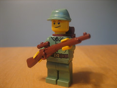 Lego WW2 Russian Soldier with Mosin Nagant Prototype (LegoEpicMan) Tags: soldier with lego prototype ww2 russian mosin nagant