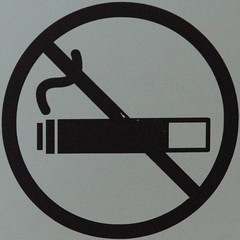 Smoking is not permitted anywhere in the Museum (Leo Reynolds) Tags: sign canon eos 7d squaredcircle f56 135mm signsafety signno iso6400 sqlondon hpexif 001sec signnosmoking signcirclebar xleol30x sqset081