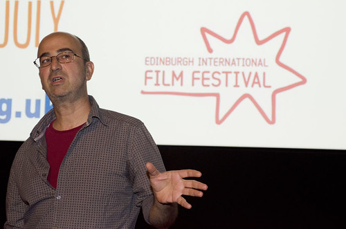 Director Petros Sevastikoglou after the screening of his film Attractive Illusion