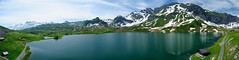 Panoramic Landscape of Melchsee-Frutt (Werner_B) Tags: blue summer mountain lake alps nature berg sport landscape schweiz switzerland europe swiss natur hike berge alpen bergsee landschaft ferien moutains    turist   melchseefrutt