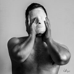 . (Welcu) Tags: people white man canon naked arms mask blak 60d