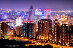 Night view of bustling Taipei City (Isaac Aaron) Tags: city night nikon view taipei f28 bustling 14mm samyang d700