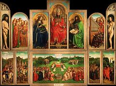 Poliptico original hermanos Van Eyck