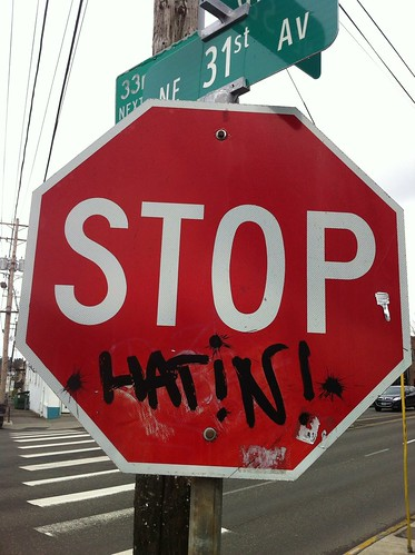 Stop Hatin! by Francis Storr, on Flickr