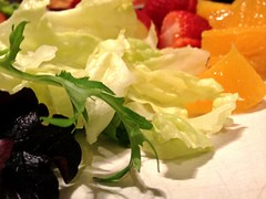 Salad (Theen ...) Tags: white green fruit salad main strawberries plate lettuce meal oranges theen iphone4s