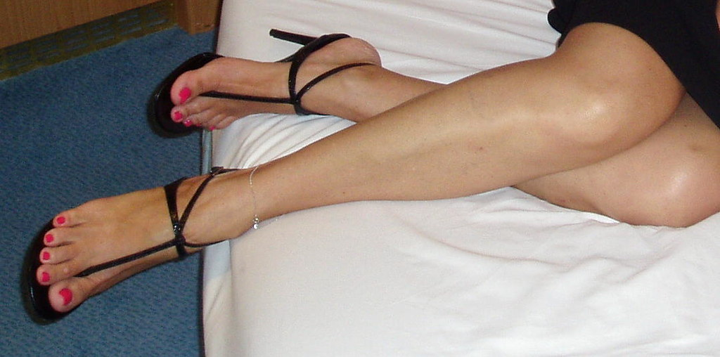 Are not Sexy feet in high heel thong sandals excited