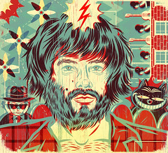 Angus Stone (((_)) Diego Patio) Tags: illustration singer illustrator songwriter rollingstonemagazine angusstone diegopatio australianillustration