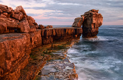Pulpit rock HDR (Mark Leader) Tags: sea art print poster portland coast rocks waves wallart canvas shore dorset decor jurassic wallhanging portlandbill pulpitrock