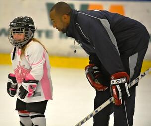 Brad Perry coaching girl